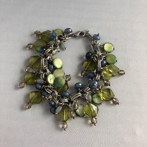 Lia Sophia Beaded Bracelet Green/Blue